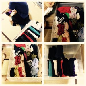 衣服の整頓